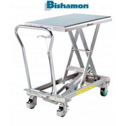 Table élévatrice inox 150 kg BISHAMON