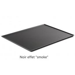 Plat 600 x 400 mm pour présentation de pâtisseries noir.