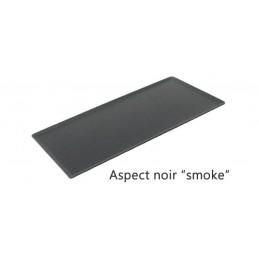 Plat 400 x 200 mm pour présentation de pâtisseries noir