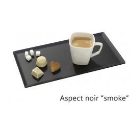 Plat 300 x 150 mm pour présentation de pâtisseries noir