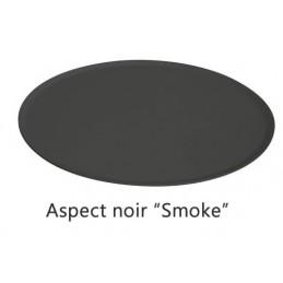 Plat rond 325 mm pour présentation de pâtisseries noir.