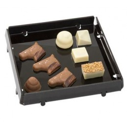 Plat pour chocolats noir aspect Smoke