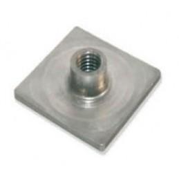 Platine à souder pour tube 30 x 30 mm filetage M10