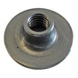 Platine à souder pour tube rond 38 mm filetage M10
