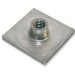 Platine à souder pour tube 40 x 40 mm filetage M12