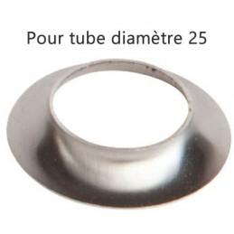 Collerette inox pour tube rond diamètre 25 mm