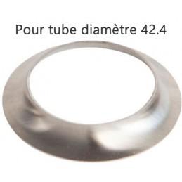 Collerette inox pour tube rond diamètre 42-4 mm