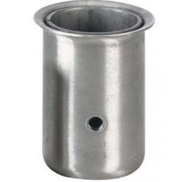 Socket inox pour tube rond de 41 mm