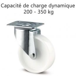 Roulette pivotante roue polyamide