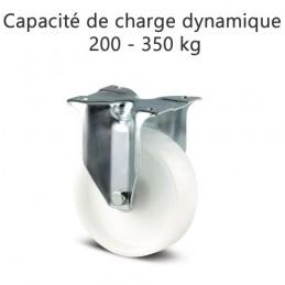 Roulette fixe roue polyamide