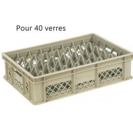 Bac pour verres 114 mm diamètre 68 mm 40 cases