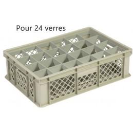 Bac pour verres 135 mm diamètre 86 mm 24 cases