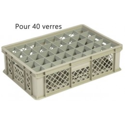 Bac pour verres 135 mm diamètre 65 mm 40 cases