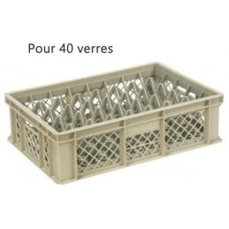 Bac pour verres 135 mm diamètre 68 mm 40 cases