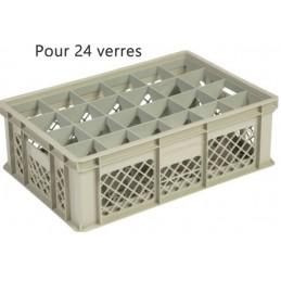 Bac pour verres 159 mm diamètre 86 mm 24 cases