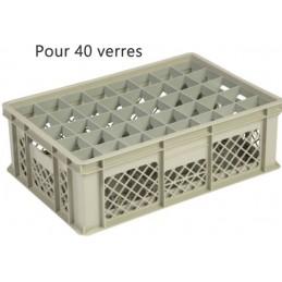 Bac pour verres 159 mm diamètre 65 mm 40 cases