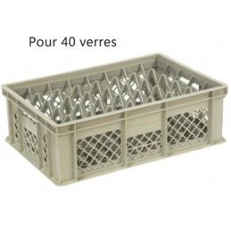 Bac pour verres 159 mm diamètre 68 mm 40 cases