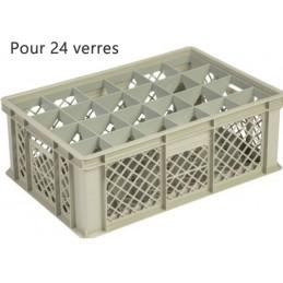 Bac pour verres 181 mm diamètre 86 mm 24 cases