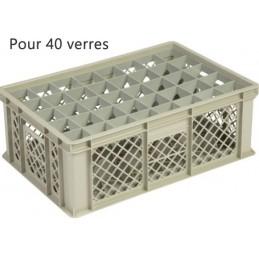 Bac pour verres 181 mm diamètre 65 mm 40 cases