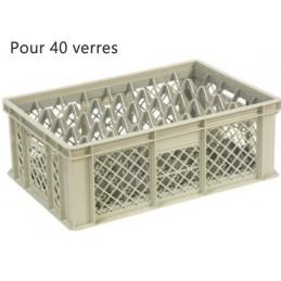 Bac pour verres 181 mm diamètre 68 mm 40 cases