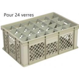 Bac pour verres 202 mm diamètre 86 mm 24 cases