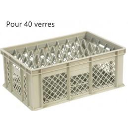 Bac pour verres 202 mm diamètre 68 mm 40 cases