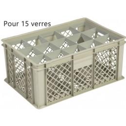 Bac pour verres 229 mm diamètre 106 mm 15 cases