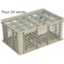 Bac pour verres 229 mm diamètre 86 mm 24 cases