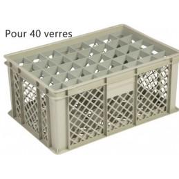 Bac pour verres 229 mm diamètre 65 mm 40 cases