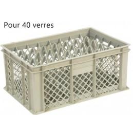 Bac pour verres 229 mm diamètre 68 mm 40 cases