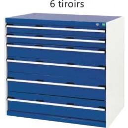 Armoire d 'atelier 6 tiroirs hauteur 1000 mm