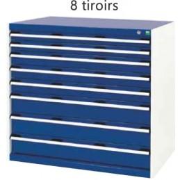 Armoire d 'atelier 8 tiroirs hauteur 1000 mm