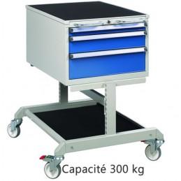 Desserte de monteur capacité 300 kg avec 2 tiroirs