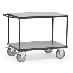 Servante d'atelier 500 kg 2 plateaux couleur gris