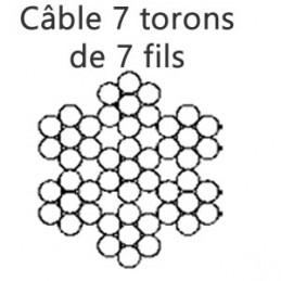Câble 3 mm 7 torons de 7 fils