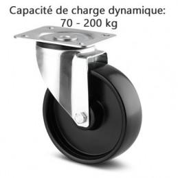 Roulette pivotante corps de roue polypropylène roulements rouleaux