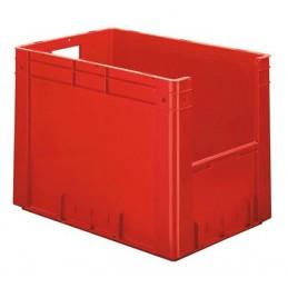 Bac euronorm 600x400x420 mm avec ouverture frontale couleur rouge