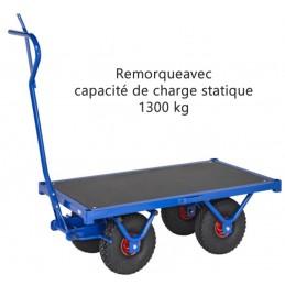 Remorque très robuste acier capacité 1300 kg