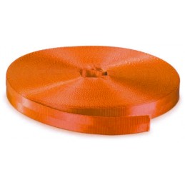 Sangle 50 mm rupture 6000 kg en rouleau orange