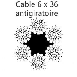 Câble croisé droite âme textile 6 torons de 36 fils WARRINGTON SEAL