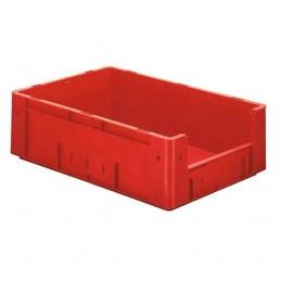 Bac euronorm 400x300x175 mm avec ouverture frontale couleur rouge