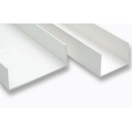 Profil U-2.0 mm droit symétrique PVC blanc