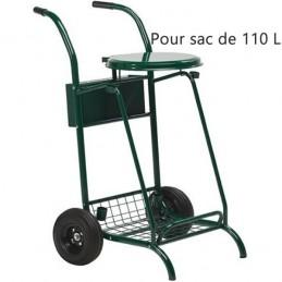 Chariot de voirie roues pneumatiques 110L