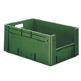 Bac euronorm 600x400x270 mm avec ouverture frontale couleur vert