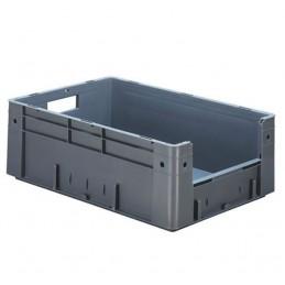 Bac euronorm 600x400x210 mm avec ouverture frontale couleur gris