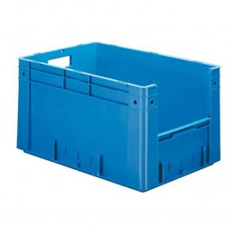 Bac euronorm 600x400x320 mm avec ouverture frontale couleur bleu