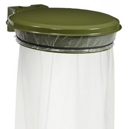 Support sac mural avec couvercle 110L vert olive