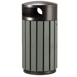 Corbeille extérieure 40 litres gris manganèse