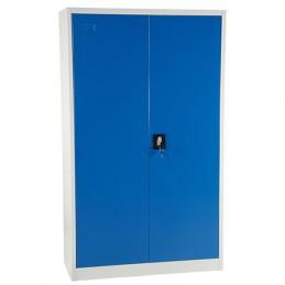 Armoire d'atelier avec 4 étagères laquée bleu