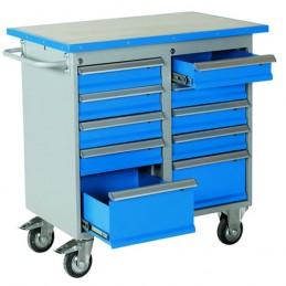 Chariot d'atelier avec 10 tiroirs